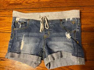 Justice girls size 12 elastic band waist shorts