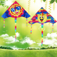 1Set 80*45cm Smiling face kite outdoor sports flying kites with 50m handle NWUS