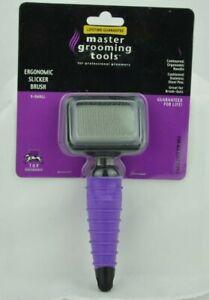 Master Pet Grooming Tool Ergonomic Slicker Brush Sz XS NEW in Pkg Dog Cat