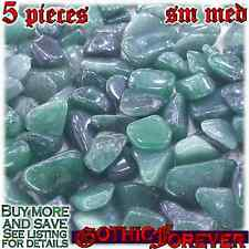 5 Sm Med 15mm Combo Ship Tumbled Gem Stone Crystal Natural - Quartz Green