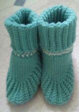 Women's Handmade Crochet Bootie Slippers Size 9 - 10