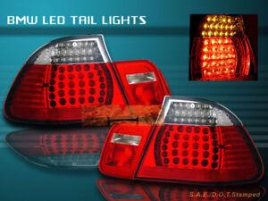 99-03 BMW E46 330 328 325 TAIL LIGHTS LED R/C 2DR 00