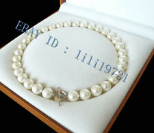 """beautiful 10mm White south sea shell pearl necklace 18"""" LL0018"""