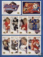 1991-92 UPPER DECK  BRETT HULL HOCKEY HEROES SET w/ NNO (10 Cards) UD/SP/RARE