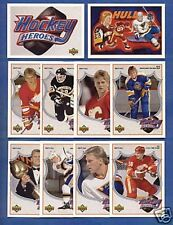 1991-92 UPPER DECK  BRETT HULL HOCKEY HEROES SET w/ NNO RARE/UD/SP/INSERTS/TEN