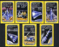 Hungary 1975 Space/Rockets/Apollo/Sputnik/Soyuz/Moon Lander 7v set (n34992)