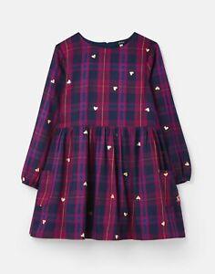 Joules Girls Rowena Woven Dress  - Navy Hearts - 9Yr-10Yr