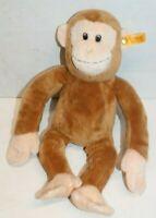 Steiff Monkey Stuffed Animal Vintage Knopf Im Ohr Plush Chimpanzee Brown Germany