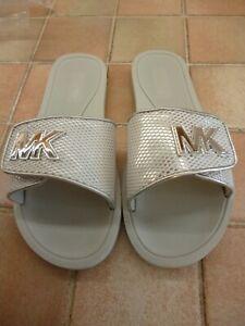 Michael Kors slip on sandles BNWOB size 5 silver