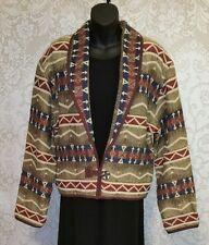 FLASHBACK Southwest Aztec Tapestry Cropped Bolero Jacket Sz M #2235