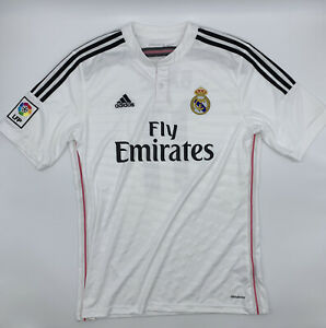 #11 BALE ADIDAS REAL MADRID 2014 2015 HOME WHITE FOOTBALL  SOCCER JERSEY MENS L