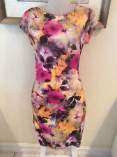 ABS by Allen Schwartz Short Sleeve Multi Color Dress - Size M