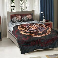 Harry Potter Hogwarts School Motto Twin/Full Comforter Pillow Sham Set
