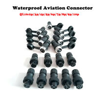 5set QL16 2/3/4/5-9/10 Pin Waterproof Electrical Aviation Plug Socket Connector