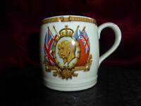 Vintage King George V Queen Mary Silver Jubilee MUG 1910-35 Royal Memorabilia V3