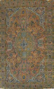 Semi-Antique Floral Tebriz Traditional Oriental Area Rug Hand-knotted Wool 6x10