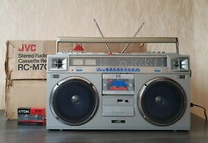 BOOMBOX JVC RC-M70L Vintage Excellent Condition Loudness Own Package Huge Rare