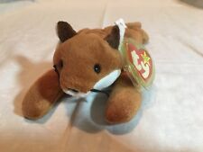 RETIRED- Ty Beanie Babies Sly The Fox PVC Pellets 1996 Hard To Find