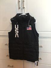 Women's North Face 2018 USA Olympic Ski Vest - Black Size Large