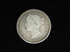 1899 Canada 10 Cent Silver - Large 9's Queen Victoria