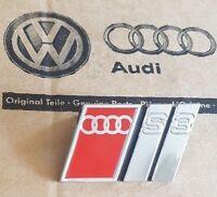Audi A3 8L original S3 Logo Clip Schriftzug Emblem Plakette Grill Kühlergrill