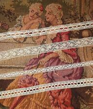 Lot 6.5 yds ANTIQUE Victorian Valenciennes Net Ribbon Insertion Lace Cream 235""