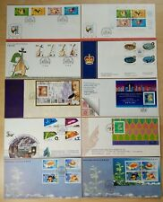 Hong Kong 1993 Stamps, M/S & S/S one Lot of 10 FDC 香港一九九三年发行邮票及小型张之十个首日封