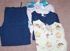 5 Pieces - Womens Scrubs (Rainbow Brite and various prints)