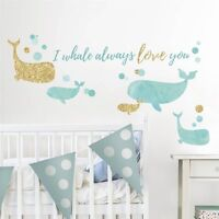 I WHALE ALWAYS LOVE YOU Wall Decals Bathroom Fish Room Decor Stickers Will Quote