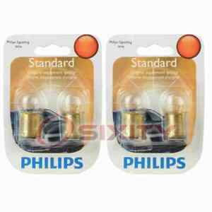 2 pc Philips License Plate Light Bulbs for Nissan 200SX 720 B210 F10 Micra if