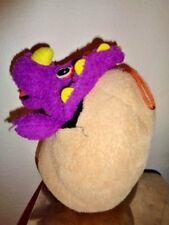 "Dinosaur Egg Jurassic Park PURPLE Triceratops Baby Plush 10"" Universal Studios"
