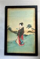 More details for pair of framed 1880s japanese paintings on silk, japonism, japan craze