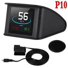 Car GPS HUD Head Up Display Speed RPM Warning OBD2 Speedometer Projector Black