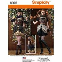 Simplicity Sewing Pattern 8075 Misses Steampunk Costumes Size 14-22 R5