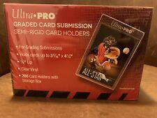 (20) Ultra Pro Graded Card Submission Semi Rigid Card Holders PSA BGS - NEW