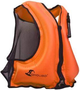 Float Jacket Vest Buoyancy Aid Inflatable Snorkel Life Jacket Surf Swimming Sail