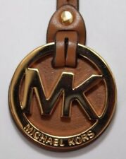 Michael Kors MK Logo Luggage Leather with Goldtone Key Fob/ Keyring NWOT