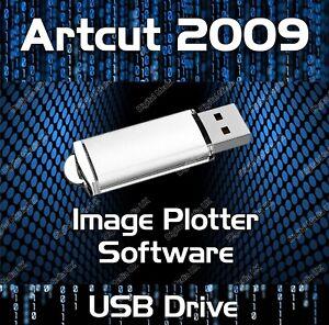 ARTCUT 2009 SOFTWARE VINYL CUTTER PLOTTER - PRO SIGN MAKING - USB DRIVE
