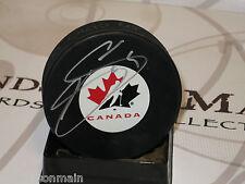 Joe Sakic Colorado Avalanche Team Canada Signed Logo Puck With LOM COA JS7