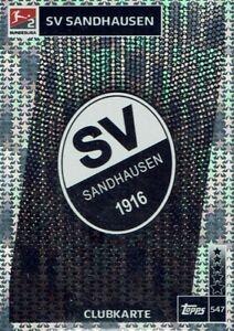 Topps Match Attax 18/19 Bundesliga 2018/2019 Card No. 547 Sv Sandhausen