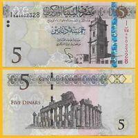 Libya 5 Dinarsp-81 2015 UNC Banknote