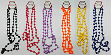 "55"" Long Rope Bead Necklace Beads Beaded Strand Retro 80's"