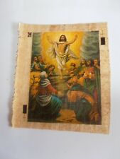 lot de 5 papyrus d'Egypte avec motif chrétien