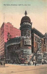 The Casino New York City- Early Card - Broadway & 39th