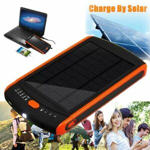 23000mAh Solar Charger Portable Power Bank W/ Led light for Outdoor Laptop Phone