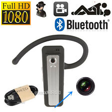 1080P HD Mini Hidden Bluetooth Spy DVR Headset Camera Wearable Video Recorder