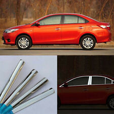 Stainless Steel Chrome Full Window Frame Sill Trim Fit For Toyoto Vios 2014-2016