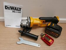 "DEWALT XR 18v DCG412 5"" ANGLE GRINDER BARE UNIT + DCB546 6 AH FLEXVOLT BATTERY"