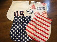 Baby Burp Cloths - Usa Themed 4 Pack