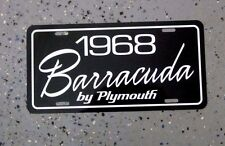 1968 Plymouth BARRACUDA license plate tag 68 CUDA Fastback S 318 340 383